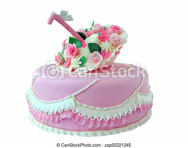 Rose Papillon Isole Anniversaire Gateau Mariage Fleurs
