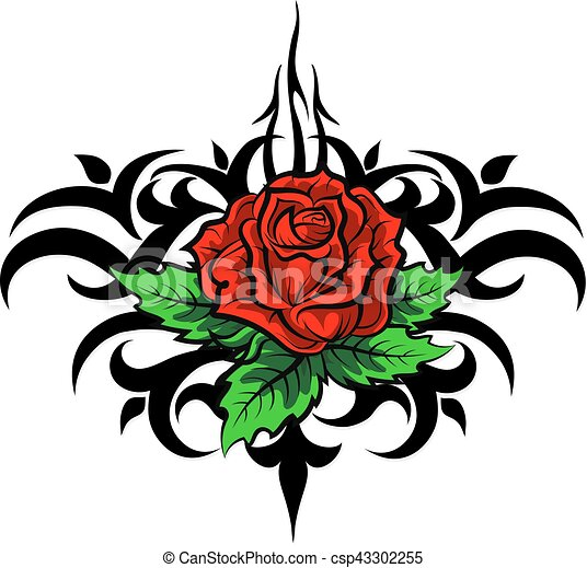 rose pattern tattoo vector rose pattern silhouette tattoo rh canstockphoto ca rose vector clip art compass rose vector art