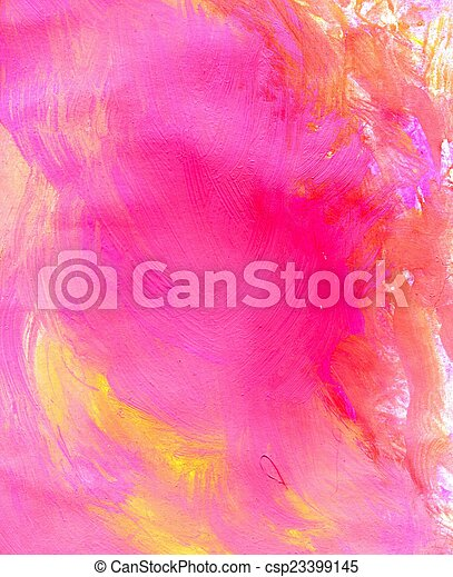 rose, peint, fond - csp23399145
