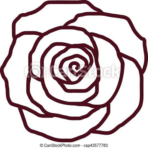 Rose petal outline - csp43577783