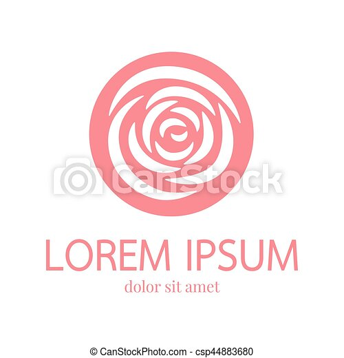 Rose Petal Silhouette Logo Rose Vector Logo Design Template