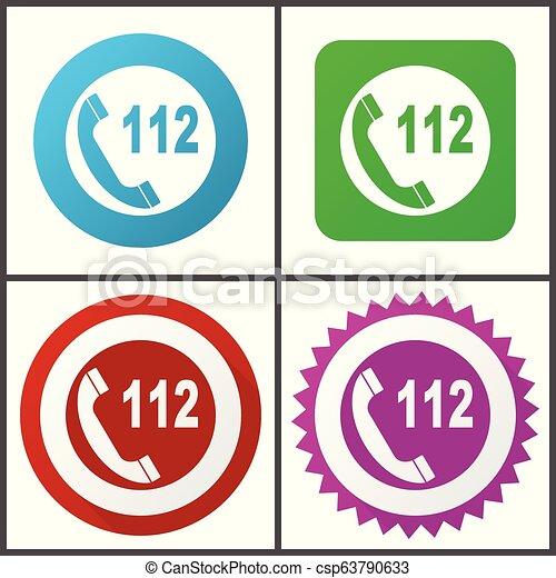 rose, plat, bleu, urgence, toile, éditer, set., icons., symboles, vecteur, conception, facile, signes, appeler, rouge vert, icône - csp63790633