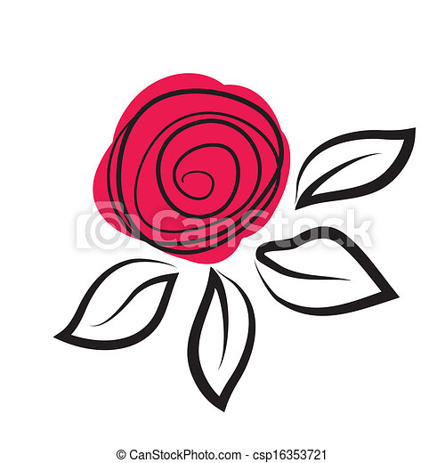 rose, résumé, fleur - csp16353721
