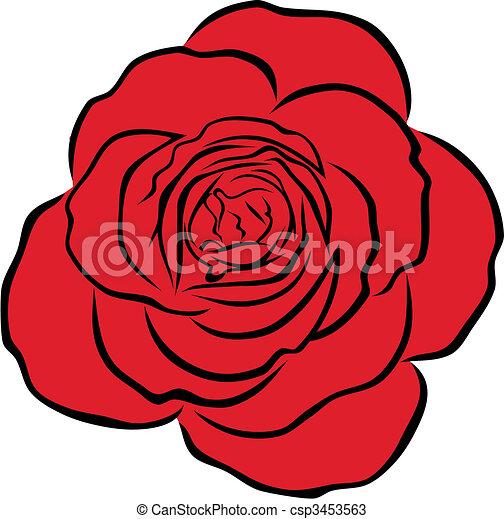 Rote Rose - csp3453563