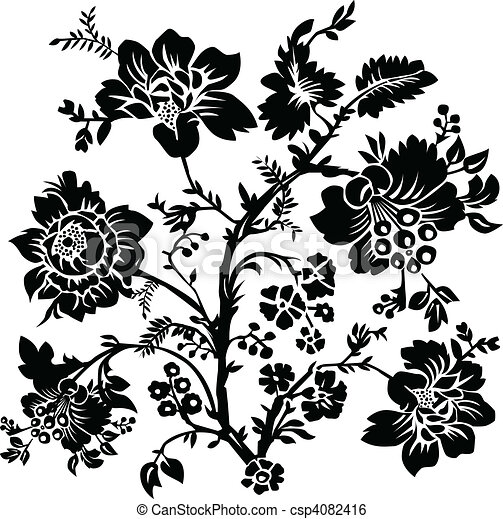 rose, vecteur, illustration - csp4082416