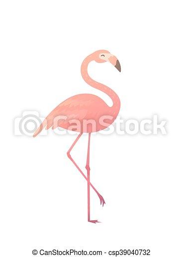 Rose Vecteur Illustration Flamingo