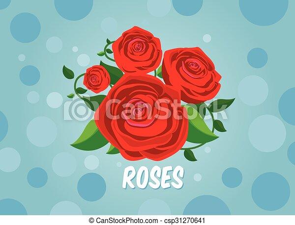 rose, vecteur - csp31270641