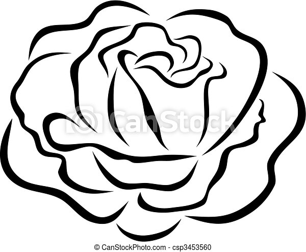 abstract vector illustration of rose vector clipart search rh canstockphoto com rose vector image rose vector file