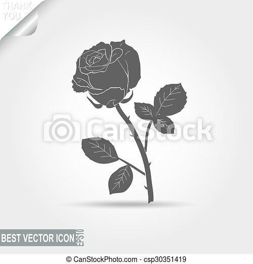 rose - vector illustration - csp30351419