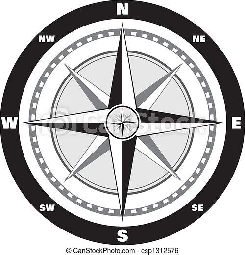 rose, vent, compas - csp1312576