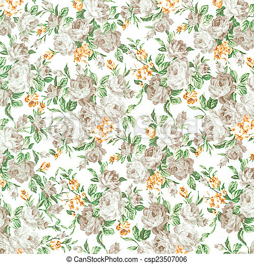 rose vintage on fabric background, gray colour - csp23507006
