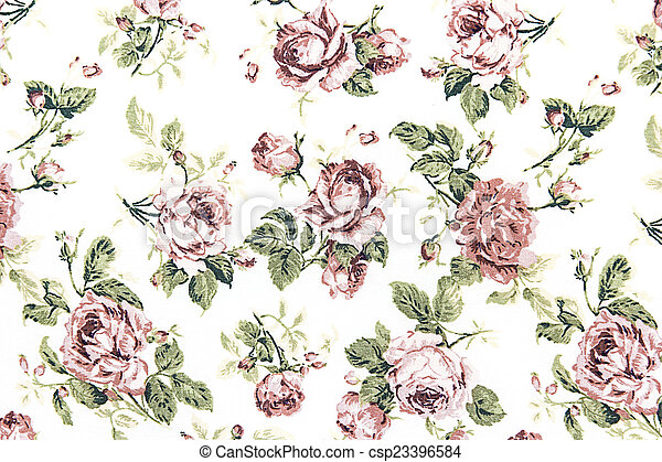Rose vintage on fabric background. - csp23396584