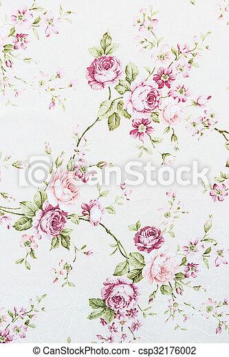 rose vintage on fabric background - csp32176002