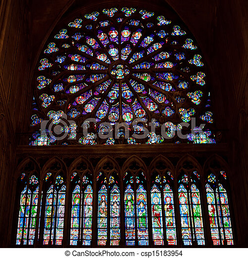 Rose Window Of Notre Dame Cathedral