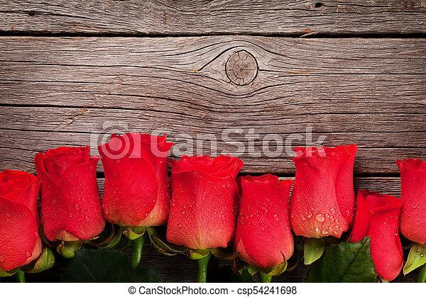 rosen, valentines, grüßen karte, tag - csp54241698