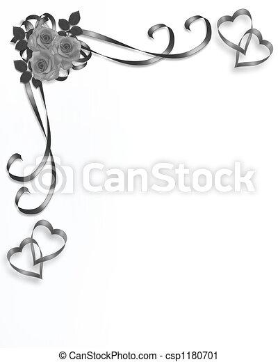 rosen, wedding, ecke - csp1180701