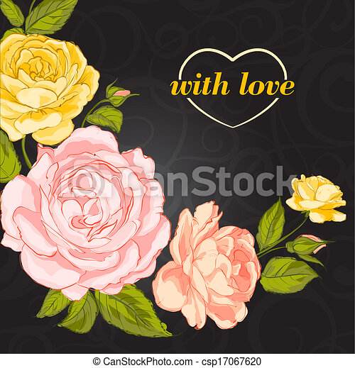 roses., 招待 - csp17067620