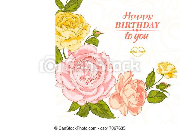 roses., 招待 - csp17067635