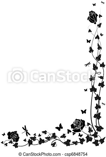roses and ivy - csp6848754
