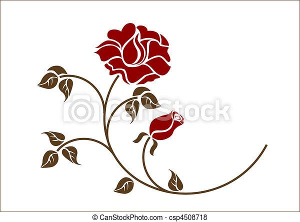 roses, backgroud., blanc rouge - csp4508718
