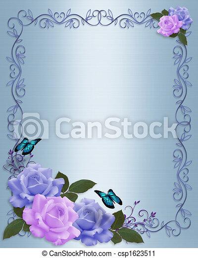Roses Border wedding invitation - csp1623511