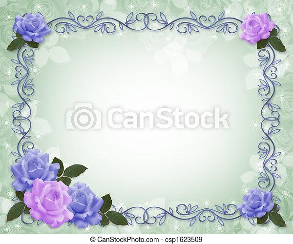 Roses Border wedding invitation - csp1623509