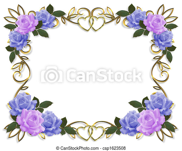 Roses Border wedding invitation - csp1623508