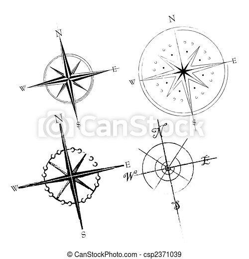 roses, compas - csp2371039