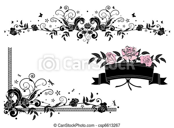 Roses Design Elements Vector With In Pink