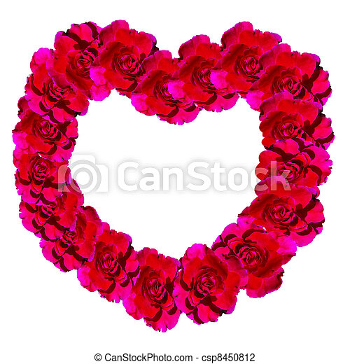 Roses frame with Hearts - csp8450812