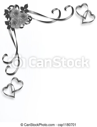 roses, mariage, coin - csp1180701