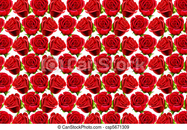 Roses Pattern To Form A Wallpaper