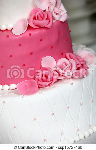 Roses Roses Gâteau Mariage Tiered