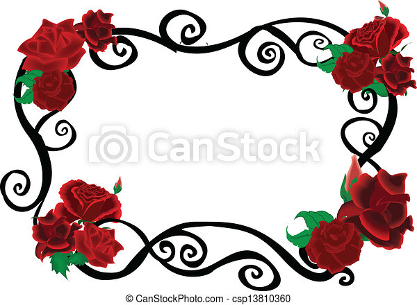 roses swirl elegant frame clip art vector search drawings and rh canstockphoto com elegant clip art borders elegant clipart of church programs