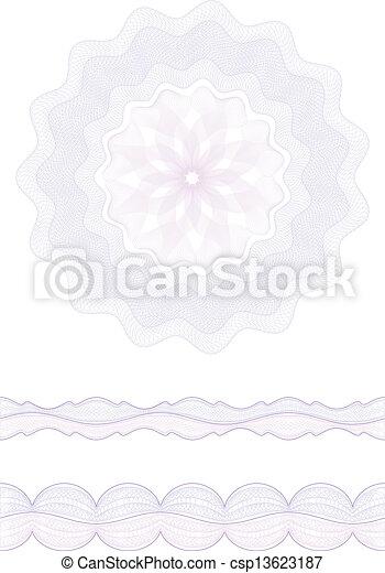 rosette, borda - csp13623187