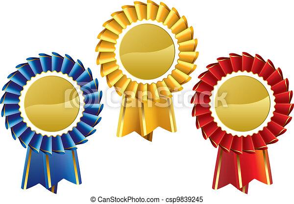 rosette, médailles - csp9839245
