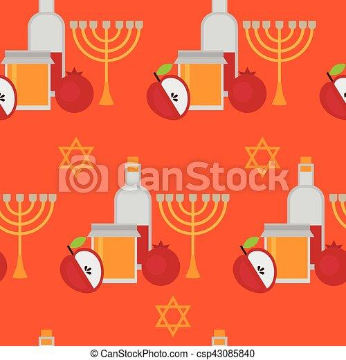 Rosh hashanah jewish new year greeting card hebrew symbols eps rosh hashanah jewish new year greeting card hebrew symbols judaism elements csp43085840 m4hsunfo