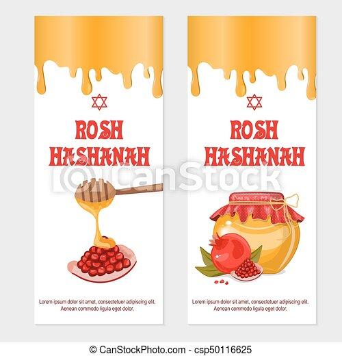 Rosh hashanah jewish new year greeting card set design with handle rosh hashanah jewish new year greeting card set design with handle for painting with honey and m4hsunfo