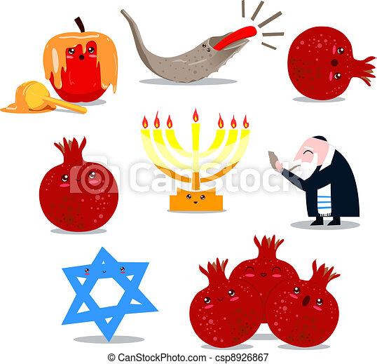 Rosh Hashanah Symbols Pack - csp8926867
