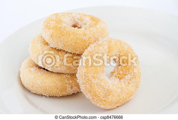 rosquilla, placa blanca - csp8476666
