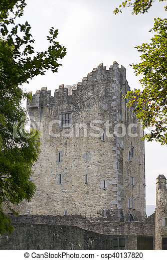 ross castle in killarney county kerry - csp40137820