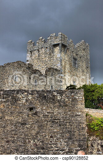 Ross Castle in Killarney National Park, County Kerry - csp90128852