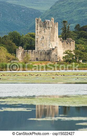 Ross castle killarney reflection - csp15022427