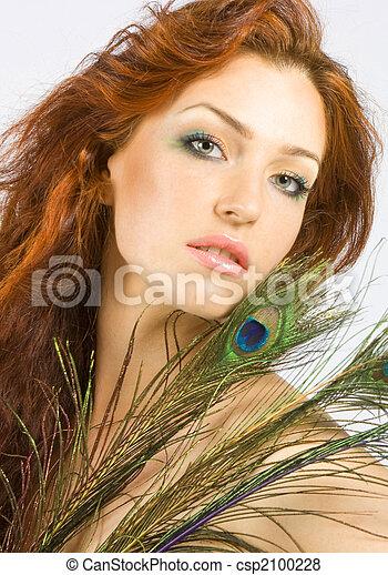 rosso-dai capelli, donne - csp2100228