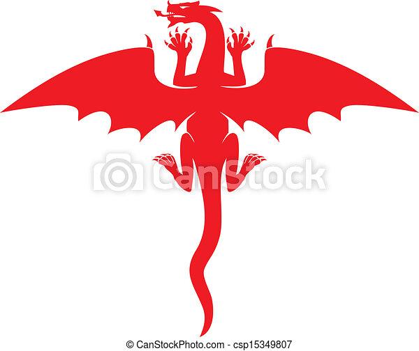 rosso, drago - csp15349807