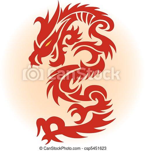 rosso, drago - csp5451623