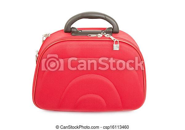 rosso, valigia - csp16113460
