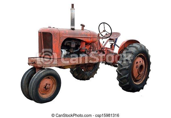 rostig, gammal, traktor - csp15981316