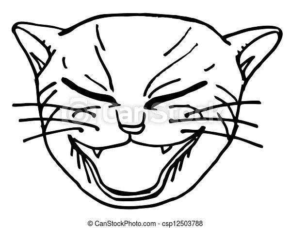 rosto gato rosto desenho criativo gato