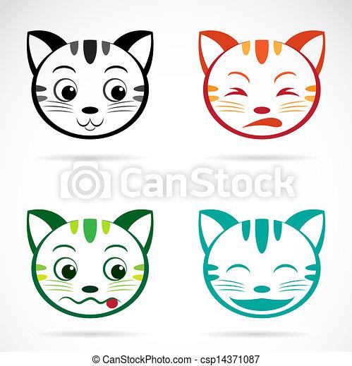 rosto imagem vetorial gato imagem rosto vetorial fundo gato